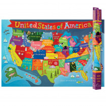 RWPKM02 - United States Map For Kids in Maps & Map Skills