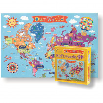 RWPKP01 - World Jigsaw  Puzzle For Kids in Puzzles