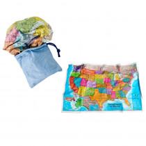 RWPSM02 - Usa Scrunchmap in Maps & Map Skills