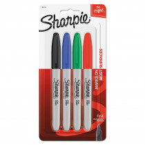 SAN30174PP - Sharpie Fine 4 Color Set Carded in Markers