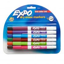 SAN86603 - Expo Low Odor Dry Erase 12 Color Marker Set Fine Tip in Markers