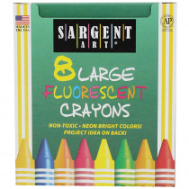 SAR220551 - Crayons Fluorescent Large 8 Colors in Crayons