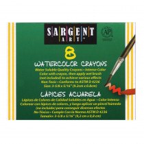 SAR221108 - Sargent Art Watercolor Crayons 8Cnt in Crayons