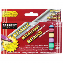 SAR221506 - Liquid Metals Metallic 6 Ct Washable Markers in Markers