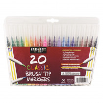 SAR221522 - Sargent Art 20Ct Classic Brush Tip Markers in Markers
