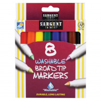 SAR221550 - Sargent Art Washable Felt Super Tip Markers Broad Tip in Markers