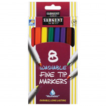 SAR221560 - Sargent Art Washable Felt Super Tip Markers Fine Tip in Markers