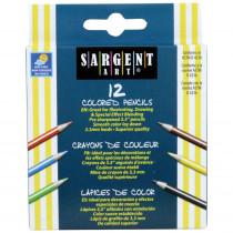 SAR227214 - Sargent Art Half-Sized Colored Pencils 12 Color Set in Colored Pencils