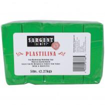 Plastilina Non-Hardening Modeling Clay, 5 lbs., Green - SAR227766 | Sargent Art  Inc. | Clay & Clay Tools