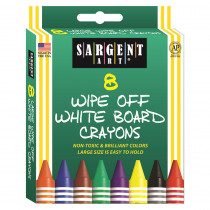 SAR350521 - Sargent Art White Board Crayons Reg in Crayons