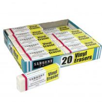 Vinyl Erasers Class Pack, Pack of 20 - SAR361017 | Sargent Art  Inc. | Erasers
