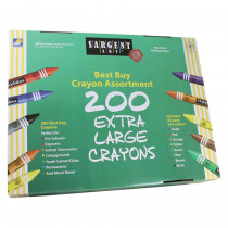 SAR553245 - Sargent Art Best Buy Crayon Assortment Jumbo Size 200 Crayons in Crayons