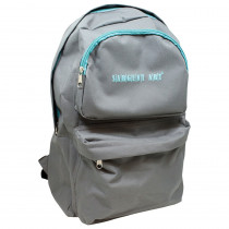 SAR985022 - Economy Backpack Gray/Teal Zipper in Accessories