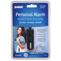 SBCPA01 - Black Personal Alarm in First Aid/safety
