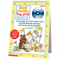 SC-0439456703 - Word Family Sing-Along Flip Chart & Cd in Books W/cd