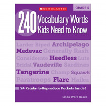 SC-546865 - 240 Vocabulary Words Kids Need To Know Gr 5 in Vocabulary Skills