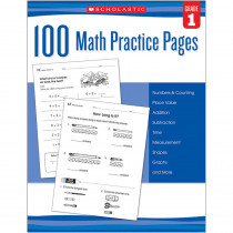 SC-579937 - 100 Math Practice Pages Gr 1 in Activity Books
