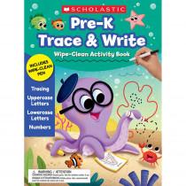 Pre-K Trace & Write Wipe-Clean Activity Book - SC-700148 | Scholastic Teaching Resources | Art Activity Books