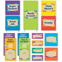 SC-812784 - Tape It Up Behavior Chart Mini Bulletin Board Set in Classroom Theme