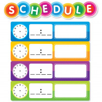 SC-812788 - Color Your Clssrm Schedule Mini Bulletin Board Set in Classroom Theme