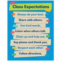 SC-812797 - Tape It Up Class Expectations Chart in Classroom Theme