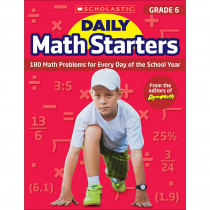 SC-815963 - Daily Math Starters Gr 6 in Activity Books