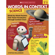 Words In Context: Science, Grades 3-4 - SC-828565 | Scholastic Teaching Resources | Activity Books & Kits