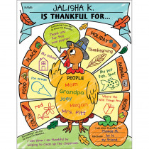 SC-831434 - Personal Poster Set I Am Thankful Gr K-2 in Classroom Theme