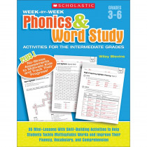 SC-946589 - Week By Week Phonics & Word Study Activities For The Intermediate Gr in Phonics