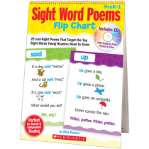 SC-9780545115940 - Sight Word Poems Flip Chart in Sight Words