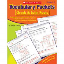 SC-9780545124126 - Vocabulary Packets Greek & Latin Roots Gr 4-8 in Vocabulary Skills