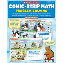 SC-9780545195713 - Comic Strip Math Problem Solving Gr 3-6 in Activity Books