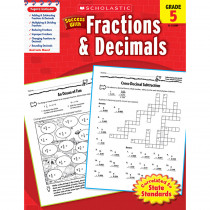 SC-9780545200899 - Scholastic Success With Fractions & Decimals Gr 5 in Fractions & Decimals