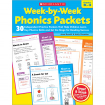 SC-9780545223041 - Week By Week Phonics Packets in Phonics