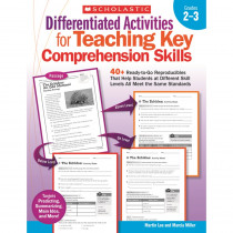 SC-9780545234528 - Differentiated Activities Teaching Key Comprehension Skills Gr 2-3 in Differentiated Learning