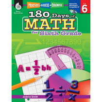 SEP50802 - 180 Days Of Math Gr 6 in Activity Books