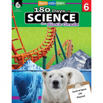 SEP51412 - 180 Days Of Science Grade 6 in Activity Books & Kits