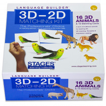 SLM008 - Lang Build 3D�2D Match Kit Animals in Activities