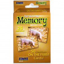 SLM224 - On The Farm Photographic Memory Matching Game in Language Arts