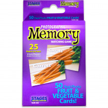 SLM226 - Fruit & Vegetables Photographic Memory Matching Game in Language Arts