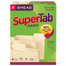 SMD10301 - Smead Supertab 100Bx Letter Size Folders Manila in Folders