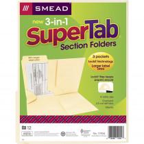 SMD11904 - Smead 3 N 1 Supertab Section Manila Folder in Folders