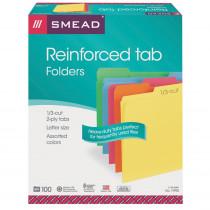 SMD11993 - Smead 100Bx Asst Colors Letter Size File Folders in Folders