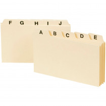 SMD55076 - Smead A-Z Index Card Guides 3 X 5 in Index Cards