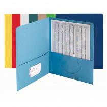 SMD87850 - Smead 25Ct Asst Colors Standard Two Pocket Folders in Folders