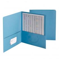 SMD87852 - Smead 25Ct Blue Standard Two Pocket Folders in Folders
