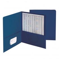 SMD87854 - Smead 25Ct Dark Blue Standard Two Pocket Folders in Folders