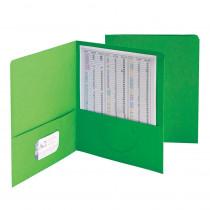 SMD87855 - Smead 25Ct Green Standard Two Two Pocket Folders in Folders
