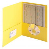 SMD87862 - Smead 25Ct Yellow Standard Two Two Pocket Folders in Folders