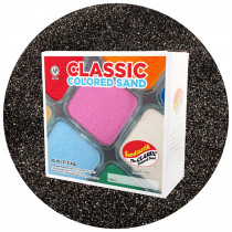 Classic Colored Sand, Black, 25 lb (11.3 kg) Box - SNDCS2503 | Sandtastik | Sand